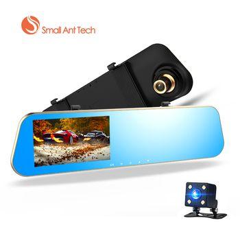 Smallantteach Full HD 1080 P Автомобильные видеорегистраторы зеркало заднего вида с Двойной объектив Камера Ночное видение регистраторы видеорегистра...
