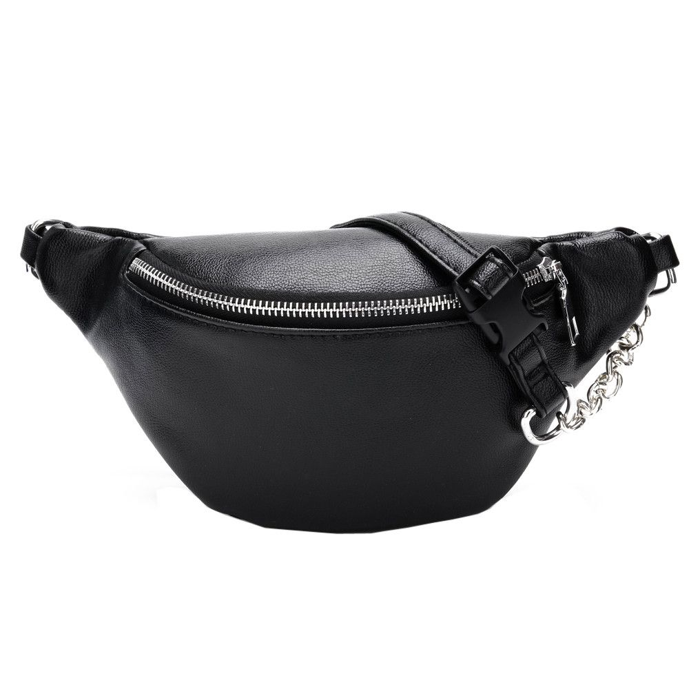 Casual Chain Lychee Leather Fanny Pack Waist Bag Casual Waterproof Antitheft Women Walking Shopping Band belt Multi-function Bag