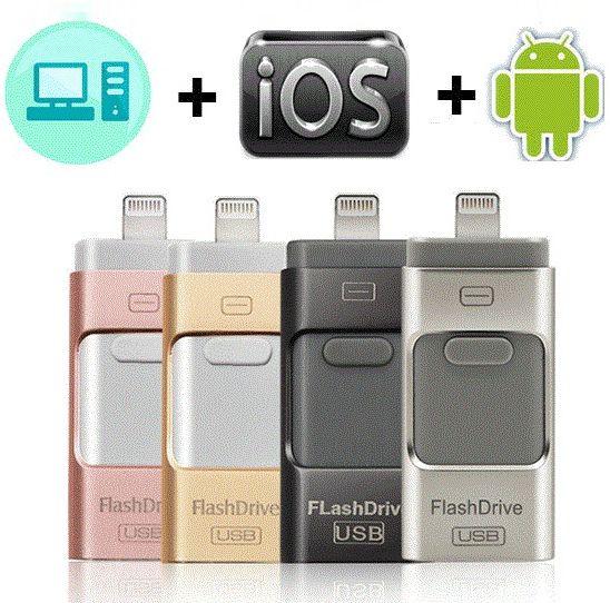 Clé usb Pour iPhone X/8/7/7 Plus/6/6 s/5/SE /ipad clé usb otg HD carte mémoire 8 GB 16 GB 32 GB 64 GB 128 GB Pendrive usb 3.0