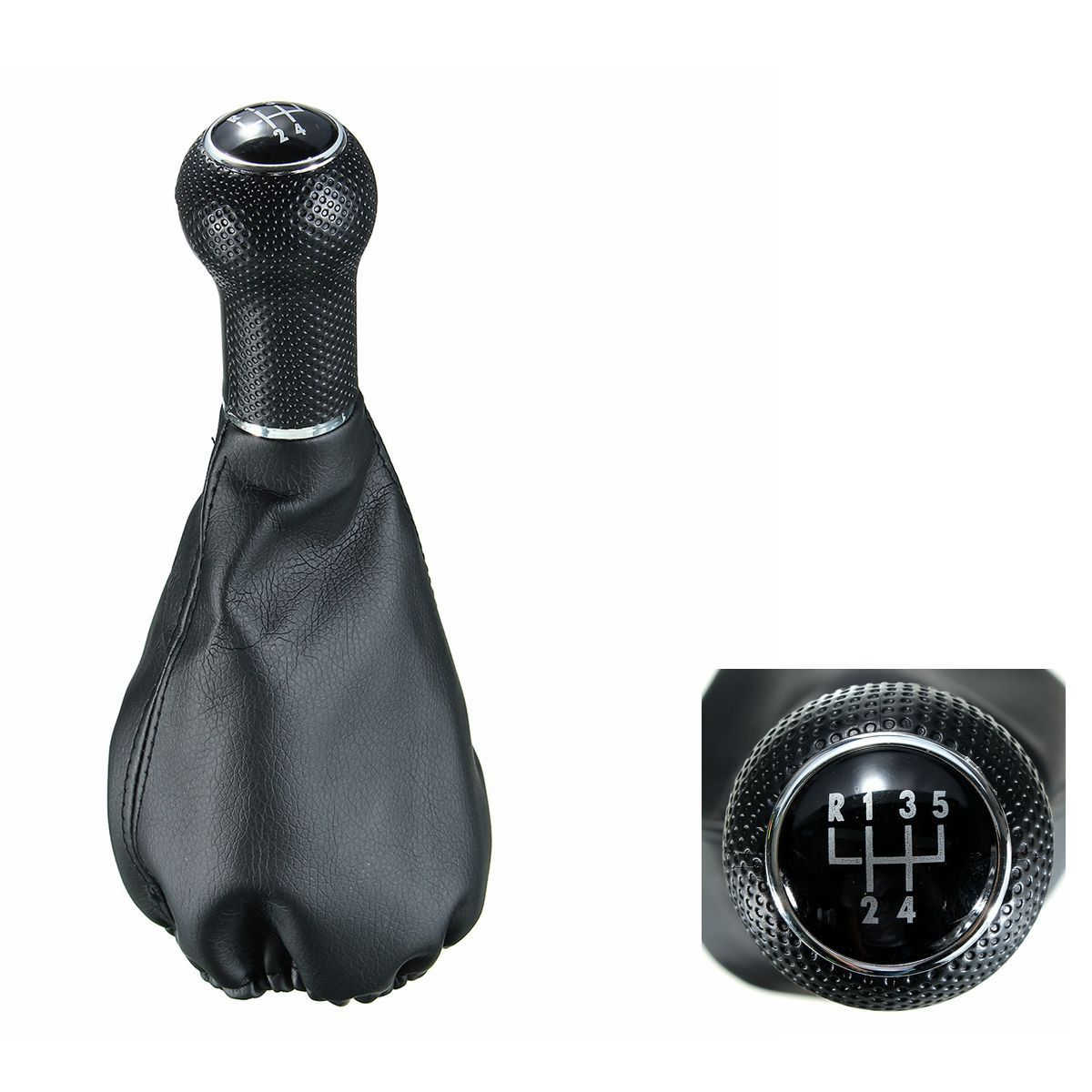 Gear Shift Knob Boot 5 Speed Leather For VW POLO ClASSIC 6N 6N2 SEAT IBIZA Auto Accessories