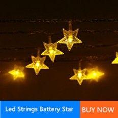 led strings battery star
