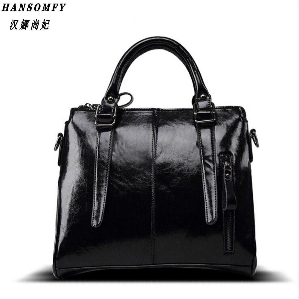 Han 100% cuero genuino bolsos de las mujeres 2017 nuevo diseño del bolso del Mensajero de la manera de las señoras crossbody bolsos famosos de la marca