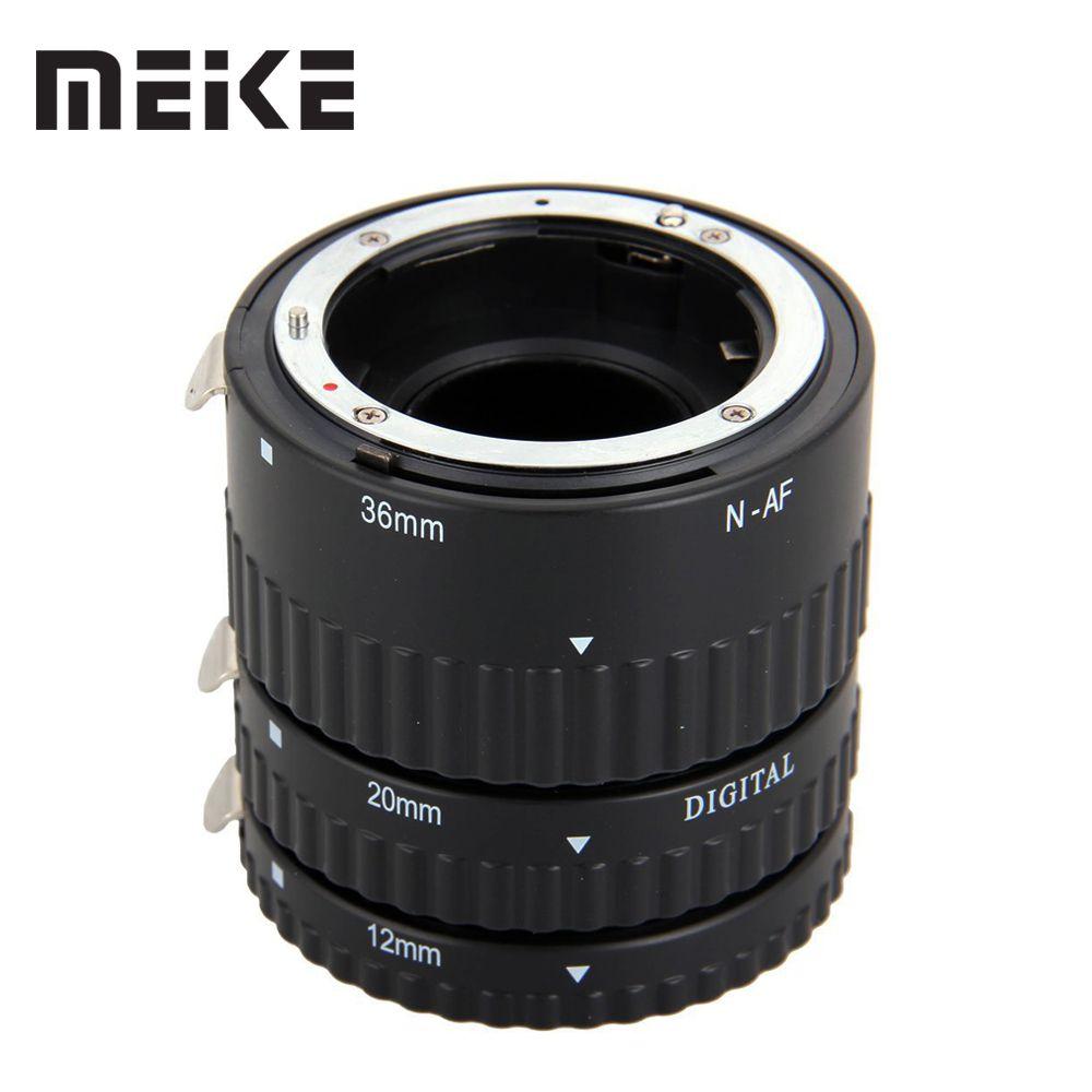 Meike Auto Focus métal AF Macro Extension Tube ensemble pour Nikon D7100 D7000 D5100 D5300 D3100 D800 D750 D600 D90 D80 DSLR appareil photo