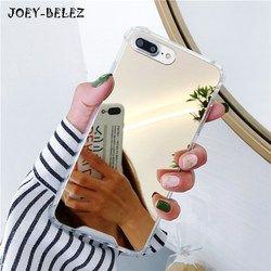 Miroir Téléphone Cas pour iPhone 7 8 Plus TPU Retour Protect Cas pour iPhone X 6 6 S 8 Plus La Couverture Reflètent Girly Mignon Cas Capa Coque