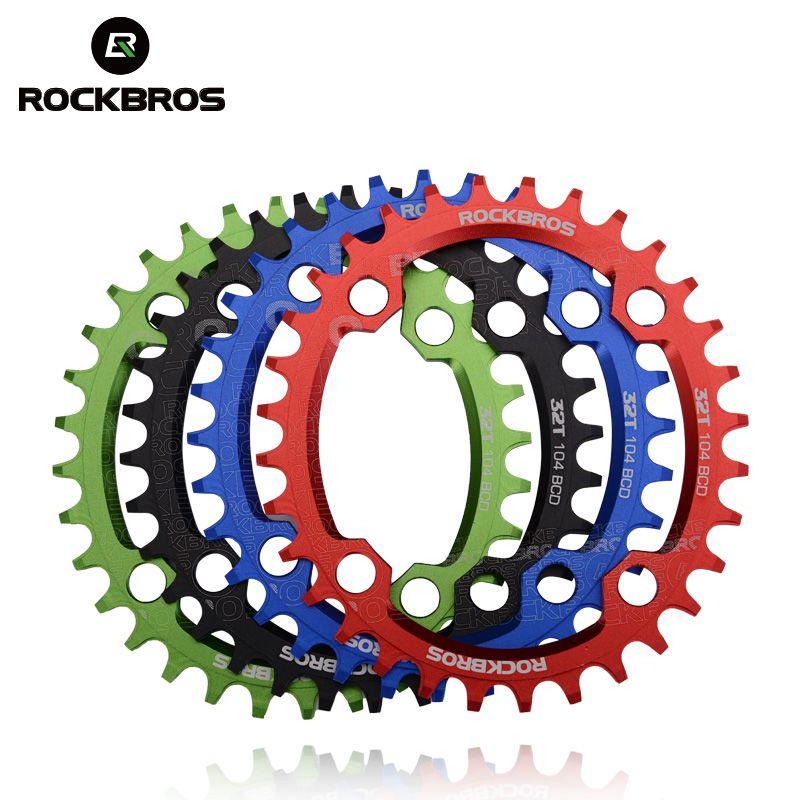 ROCKBROS ovale rond vélo manivelle et roue à chaîne 104BCD large étroit chaîne anneau 32 T/34 T/36 T/38 T pédalier vtt vélo pièces de vélo