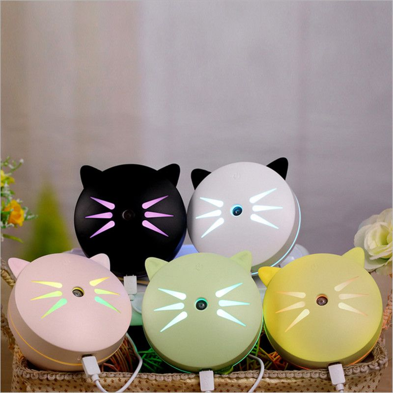 Car Humidifier Cat Air Purifier Freshener 150ML Essential Oil Diffuser Aromatherapy DC12V Portable Auto Mist Maker Fogger