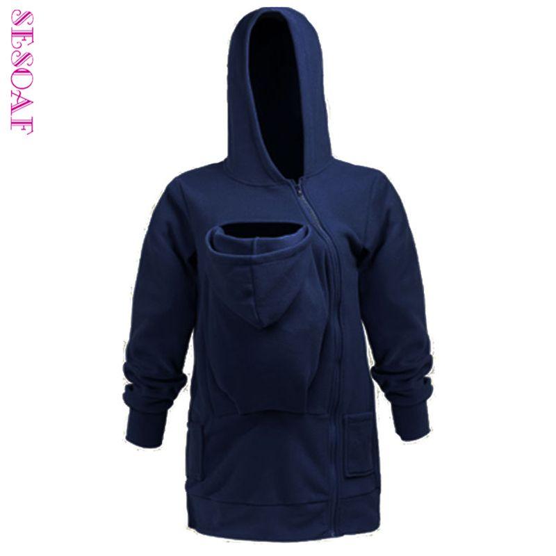 Sesoaf для переноски ребенка куртка с капюшоном кенгуру пальто и куртки для мамы ребенка носить худи плюс Размеры
