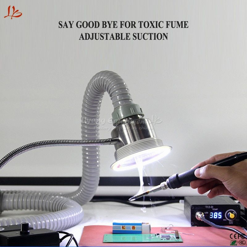 2018 LY smoke exhauster instrument for mobile phone maintenance fume extractor