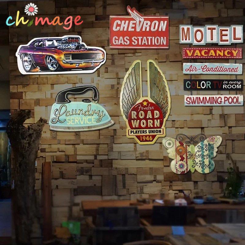 Ombre spéciale en relief motif Vintage étain signe plaque Bar pub maison café Restaurant décor mural rétro métal Art affiche
