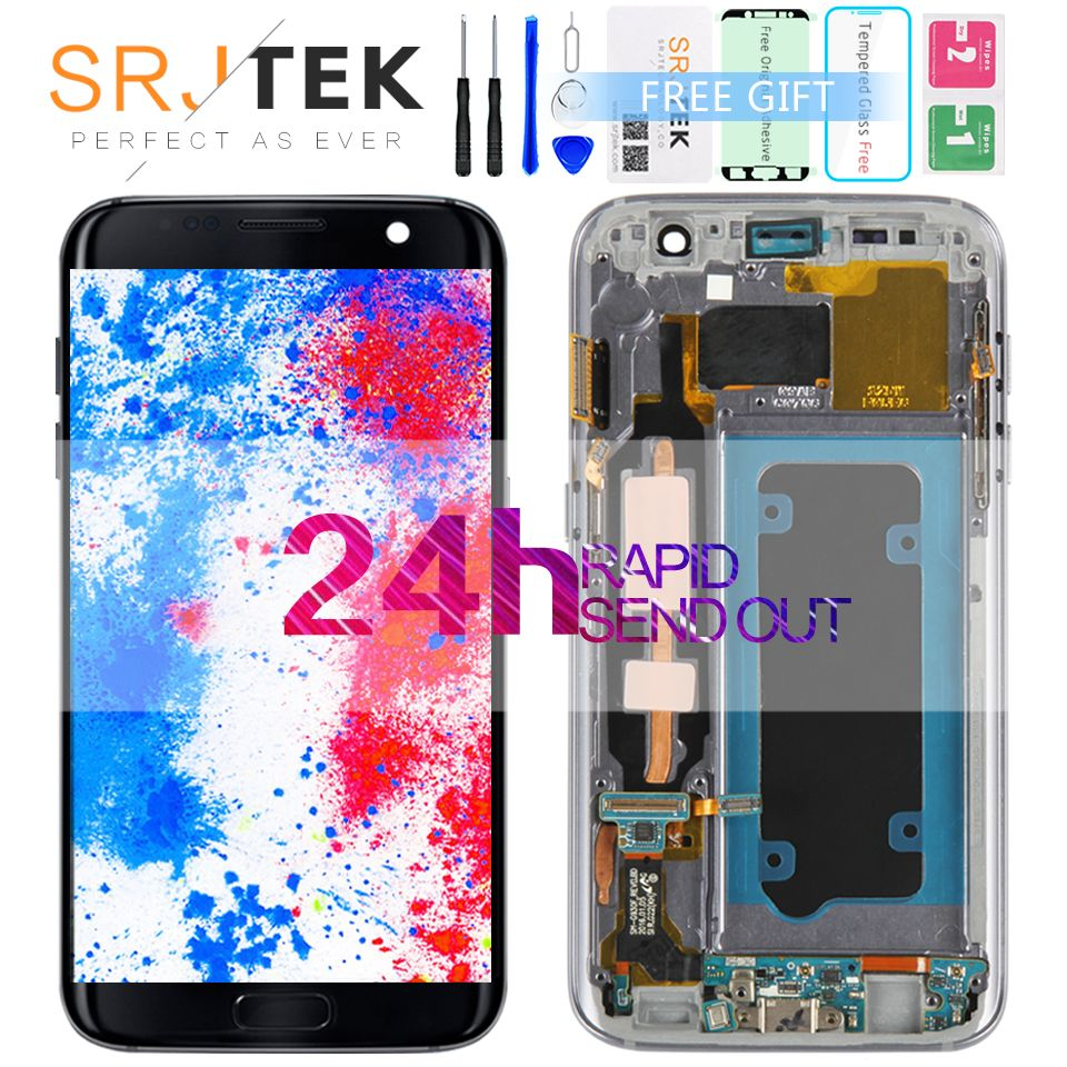 Srjtek For Samsung Galaxy S7 G930  LCD Display Touch Digitizer Sensor Glass Assembly/With Frame For Galaxy S7 G930 G930F G930A