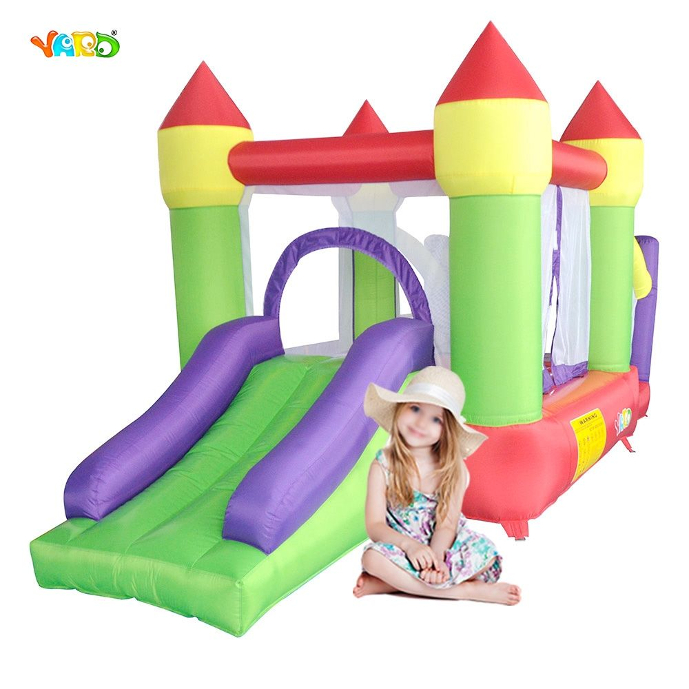 YARD Inflatable Games Bouncer Castle House Trampoline Jumper 4.4*2*2.2m Kids Inflatable Castle Ship By Express Christmas Gift