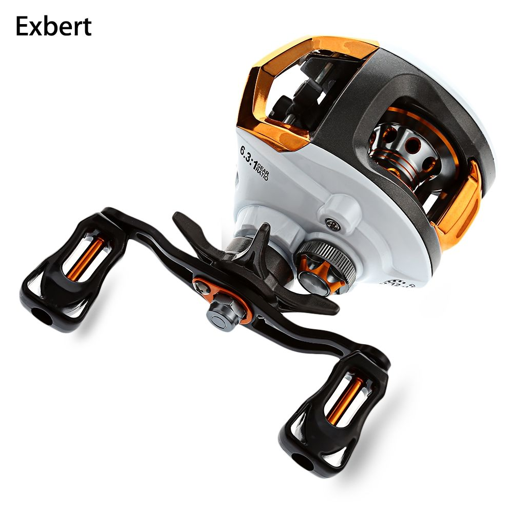 Exbert 12 + 1 Bearings Waterproof Left / Right Hand Baitcasting Fishing Reel High <font><b>Speed</b></font> Fishing Reel with Magnetic Brake System