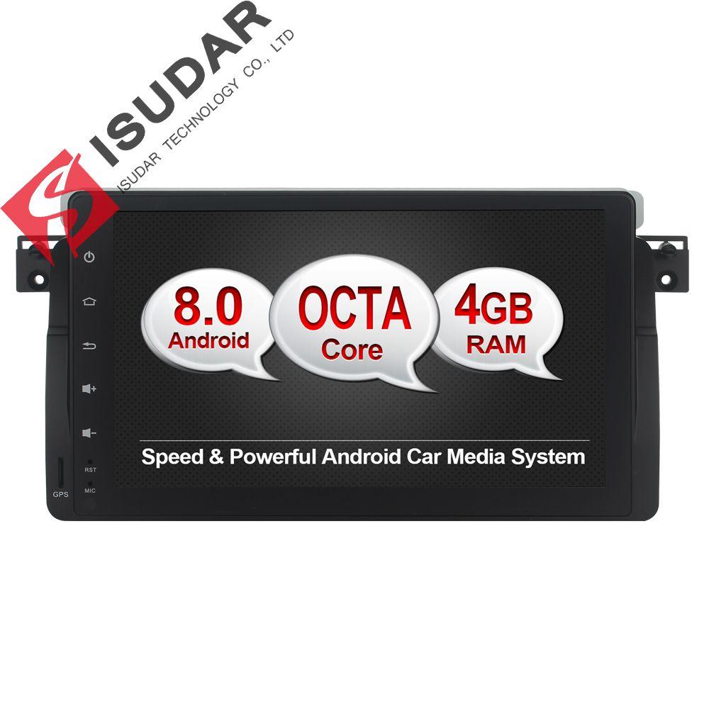 Isudar Auto Multimedia-Player GPS Android 8.0 Autoradio Für BMW/E46/M3/MG/ZT/Rover 75 octa Core Rückansicht Kamera Radio 32g ROM