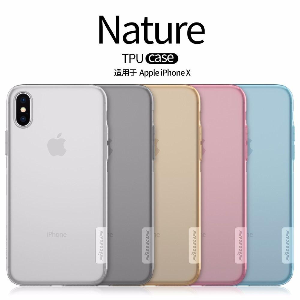 Case for iphone X SE 5 5S 5E 5SE 8 7 6 6s plus NILLKIN Nature TPU Transparent soft back cover iphone x case