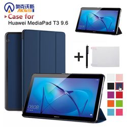 Tablet case for Huawei MediaPad T3 10 9.6inch AGS-W09 L09 smart protective cover skin for Honor Play Pad 2 9.6