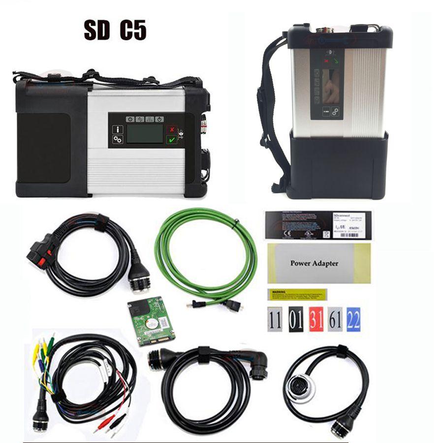 Screen-3d-mulit-sprache Super MB Sterne C5 mit Software MB-Stern SD C5 SD schließen diagnose-tool + V2018.03 HDD Software expertenmodus unterstützung