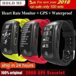 Hold Mi S908 GPS Smart Band IP68 Waterproof Sports Wristband Multiple sports Heart Rate Monitor Call Reminder G03 Smartband