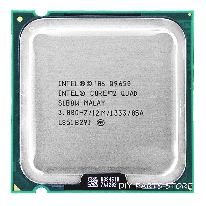 Processeur intel core 2 Quad CPU Q9650 intel core 2 quad-core 3.0 Ghz/12 M/1333 GHz) Socket LGA 775