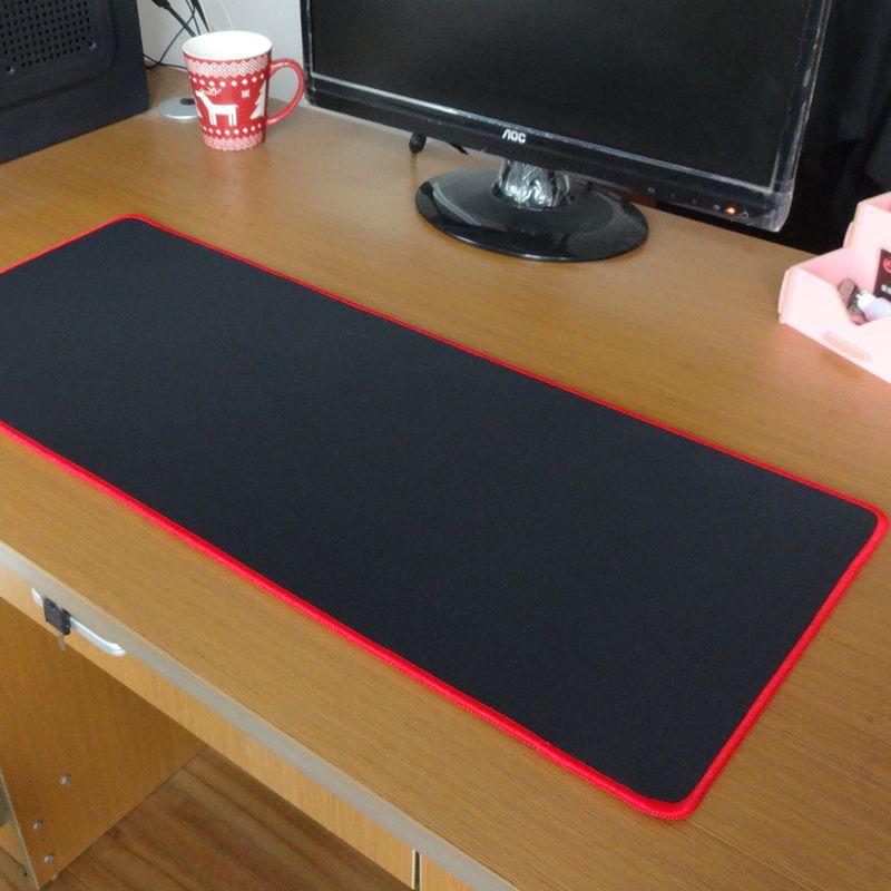 Pbpad tapis de souris de jeu bord de verrouillage rouge/noir épaisseur de haute qualité de 5mm plus épais tapis de souris tapis de souris tapis de clavier tapis de Table