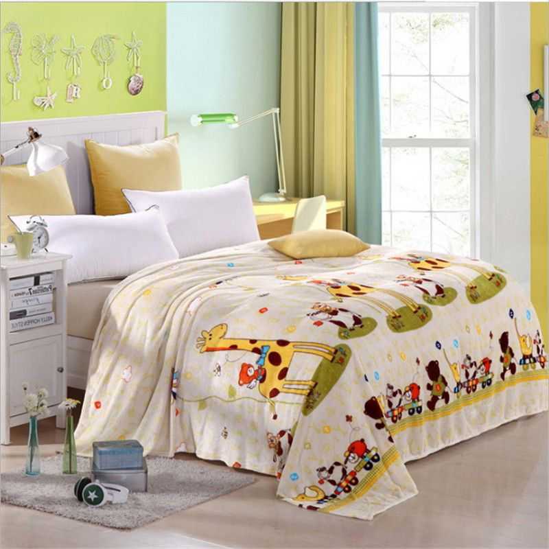 High quality super soft flannel single double blanket/cartoon children blanket 120*200/150*200/180*200/200*230cm free delivery