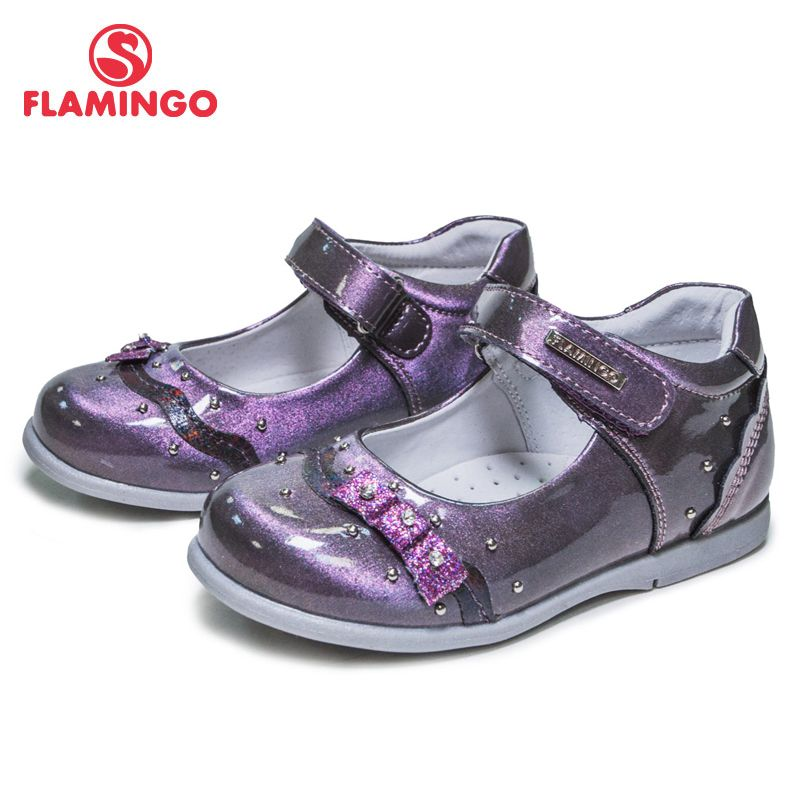 FLAMINGO 2018 New Arrival Bowknot decora Spring& Summer Hook& Loop Outdoor school shoes for girl Free shipping 81T-XY-0672/ 0673