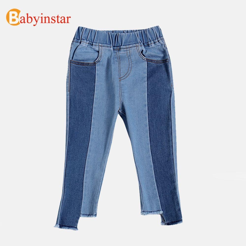 Babyinstar Bébé Filles Denim Pantalon Casual Enfants Automne Pantalon Filles Cloche à fond Pantalon Enfants Pantalon Pour Les Filles 2018