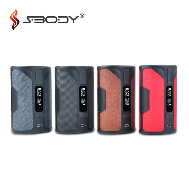 Original Sbody VapeDroid C3D1 DNA250 Box Mod Evolv DNA 250 Chip Fit Triple 18650 Battery RDA RTA Vape Tank 250W TC Vaporizer