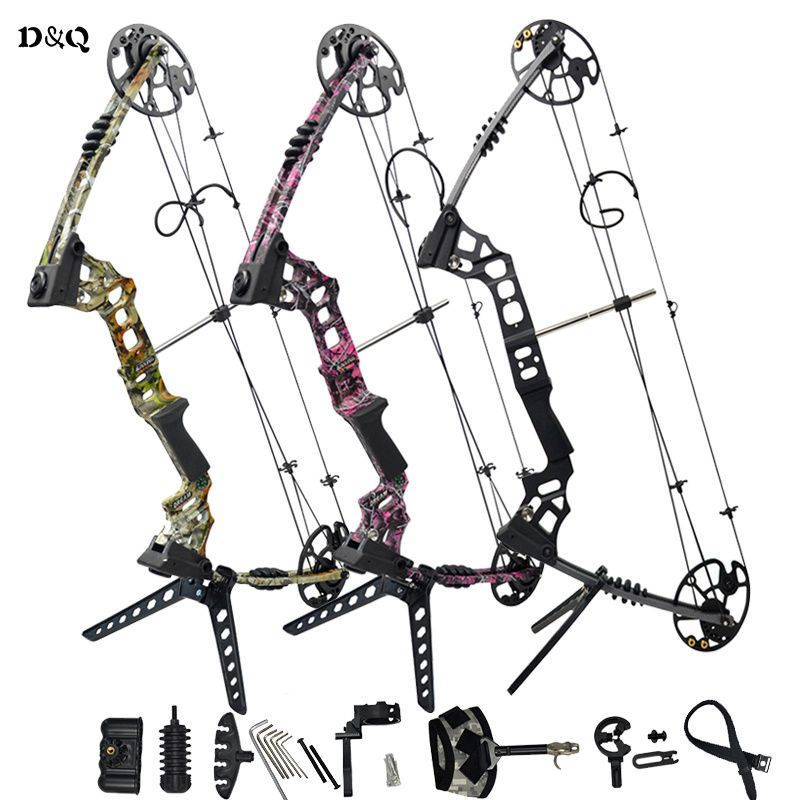 Hunting Compound Bow Set 20-70lbs With Complete Accessories Slingshot Bow For Outdoor Shooting Competition Games Right Left Hand