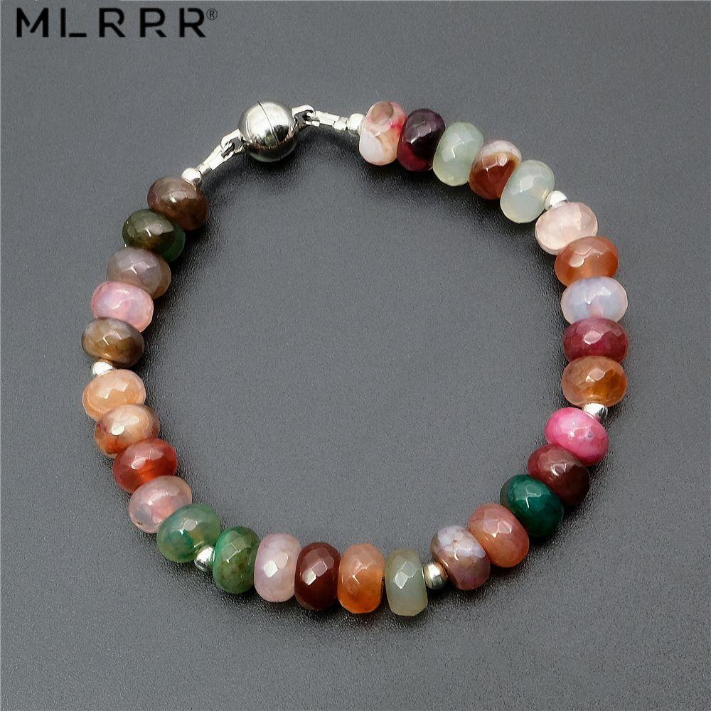 Liquidation vente Vintage classique Agates naturelles pierres bijoux romantique 5*8mm Tourmalines perles Bracelets