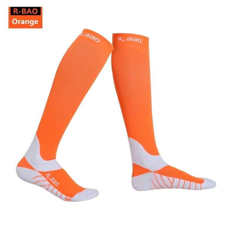 RB7707 R-Bao Men/Women Professional Compression Running Stockings High-quality Marathon Sports Socks Quick-Dry Bicycle Socks