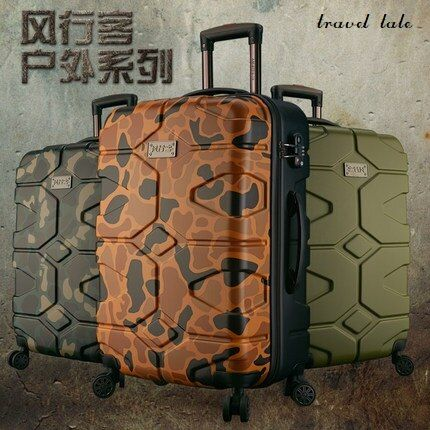 Personality wear-resisting ilitary style 20/24/28 inch ABS High quality Rolling Luggage Spinner brand Travel Suitcase