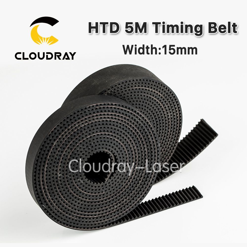 Cloudray HTD-5M Open Belt 5M Timing Belt 5M-15 20 25 30mm Polyurethane for CO2 Laser Engraving Cutting Machine