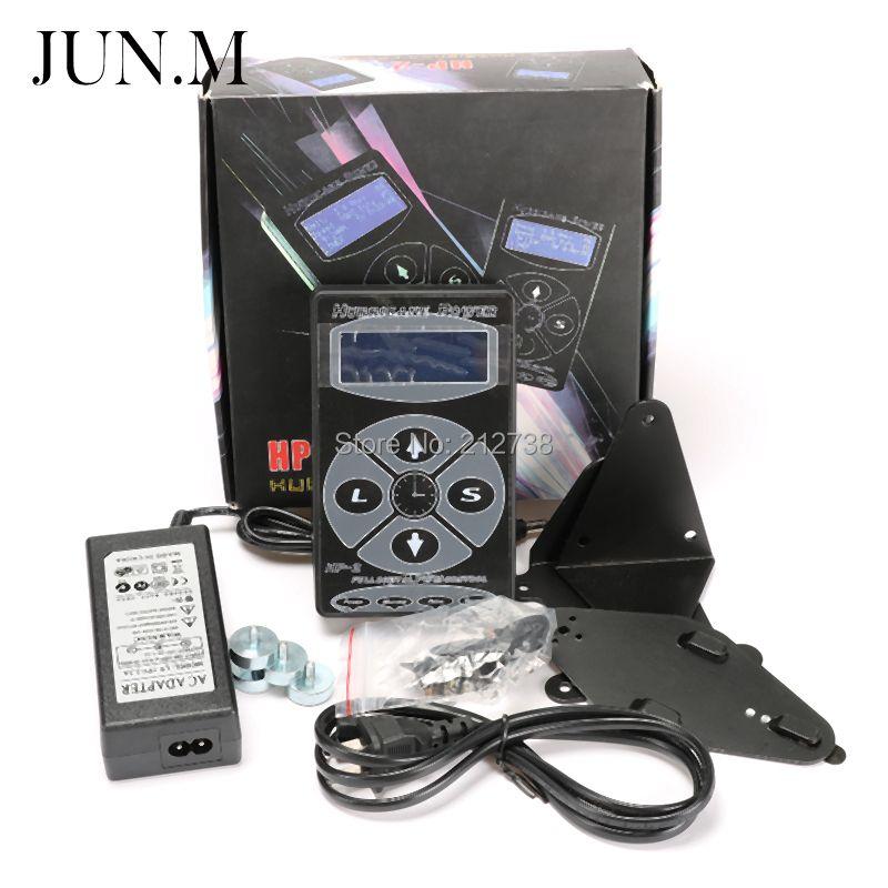 Бесплатная доставка Профессиональный Источники питания для татуажа HP-2 Напряжение питания цифровой двойной ЖК-дисплей Дисплей Источники п...