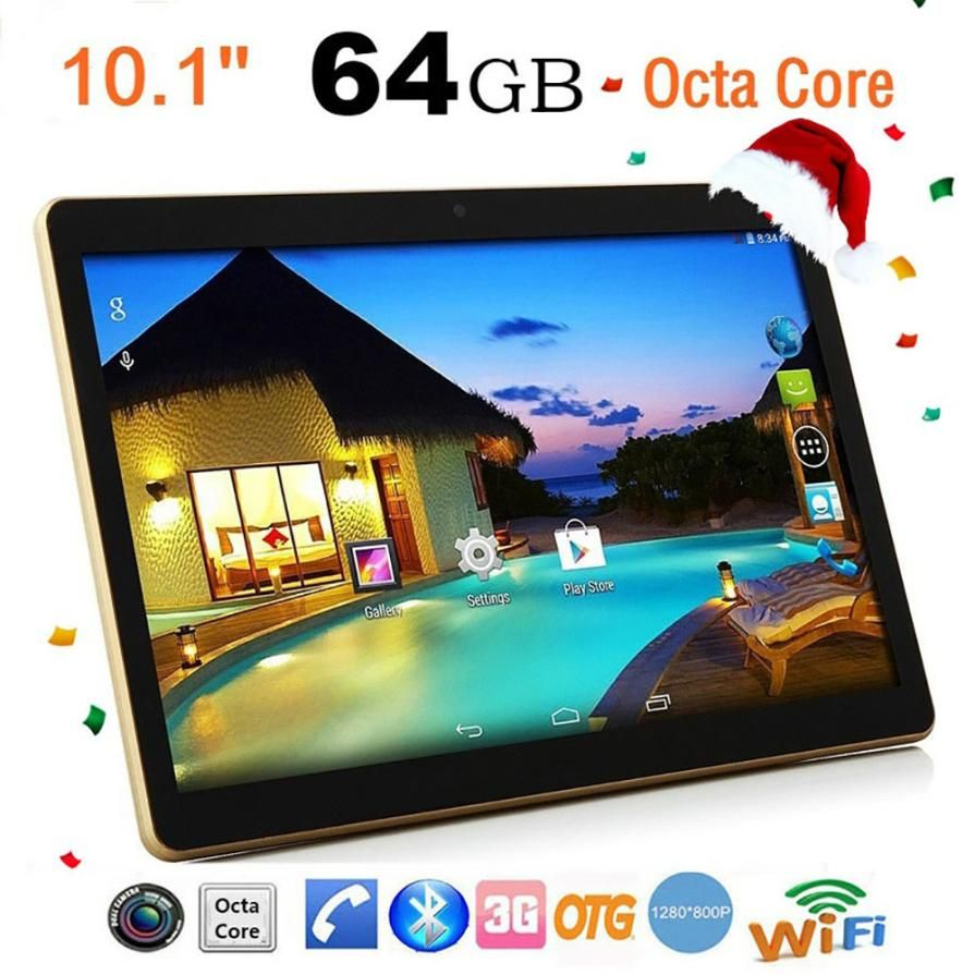 Hot sale 10.1 Inch MTK6592 Octa-Core 4G + 64G Android 6.0 Dual Sim Dual Camera Phone Pad Wifi Phablet Tablet PC 18Jan29