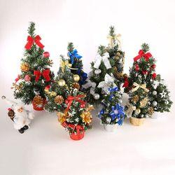 20-40 Cm Mini Natal Pohon Dekorasi Xmas Hadiah Terbaik Kecil Pohon Pinus Ditempatkan Di Desktop Festival rumah Pesta Baru