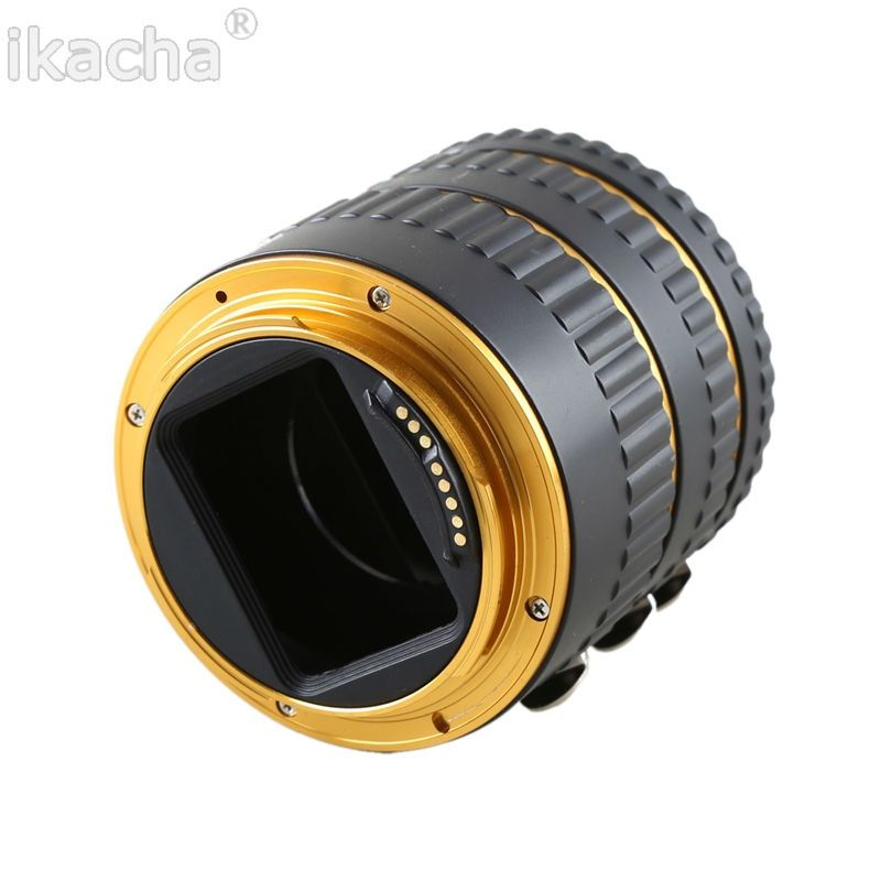 Gold Metal Mount Auto Focus AF Macro Extension Tube Ring for Canon EOS EF-S Lens 100D 60D 70D 550D 600D 6D 7D T5i T4i