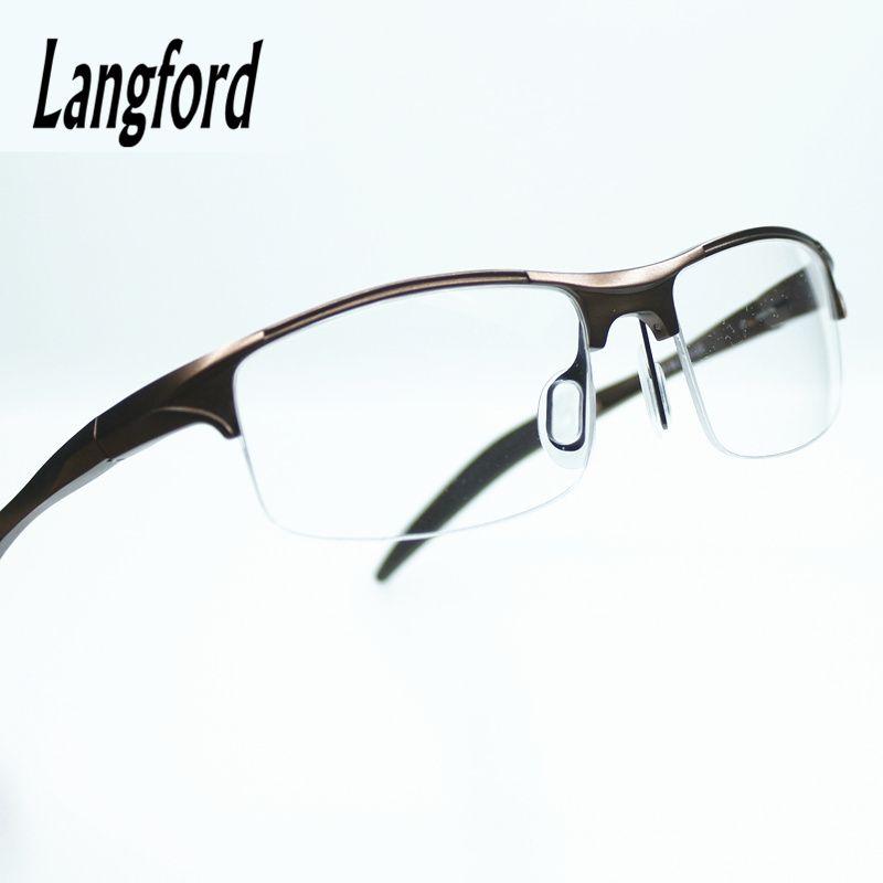Прохладный Мужская оптических оправ стильные оправы модный дизайн стиле оптимизировать очки моно весна петли