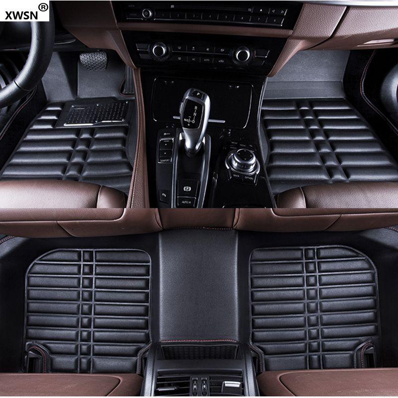 XWSN Custom car floor mats for Volkswagen all models vw passat b5 b6 polo 6r golf 6 touran 2005-2017 tiguan jetta accessories