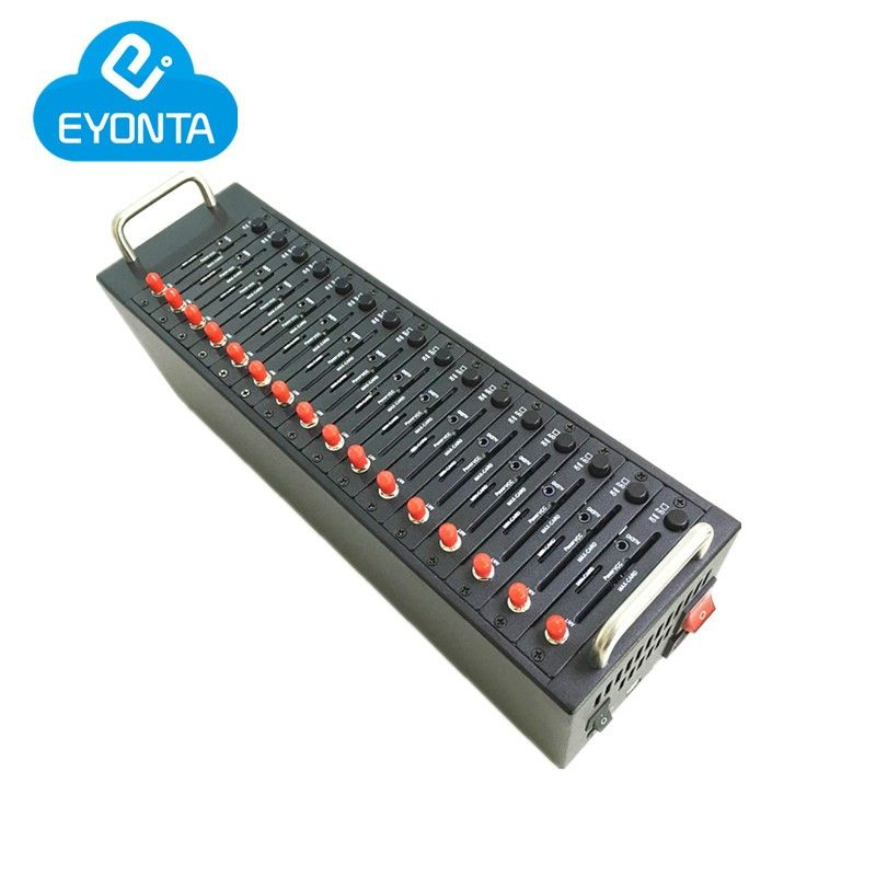 Massen-sms USB gsm gprs modem Wavecom q2406b gsm modem 16 port gsm sim pool ussd stk handy aufladen