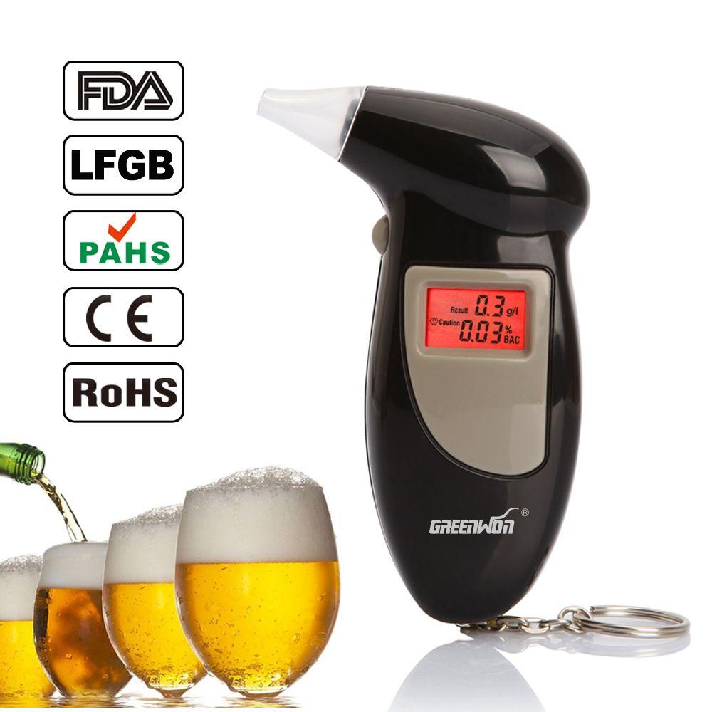 Backlit Display Digital LCD Alert Breath Alcohol Tester Prefessional Police Alcohol The Breathalyzer Parking Breathalyser