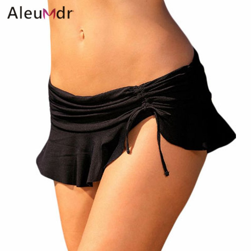Aleumdr Bikini Bottoms For Women Summer Beach Swimwear Brazilian Lace-up Bottom Swimsuit LC410250 Biquini Parte Inferior