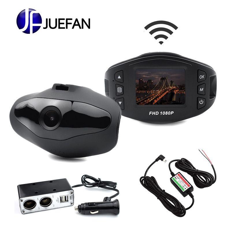 HOT JUEFAN Y1 Dash Cam Novatek 96658 voiture DVR Full HD 1080P WIFI caméra de voiture 140 grand Angle véhicule voiture caméra USB chargeur de voiture