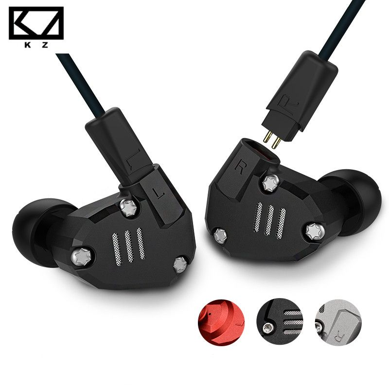 KZ ZS6 Eight Driver Earphone Dynamic And Armature In Ear HIFI Stereo Sport Headset Detachable Bluetooth Upgrade Cable Original