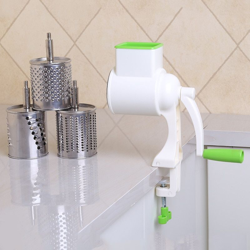Manually Vegetables rotary grater for Cut slice 4 in 1 stainless steel roller type easy to use Kitchen Accessories Gadgets