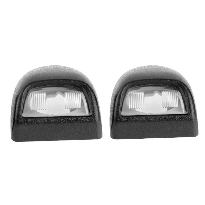 VODOOL 2Pcs Car Replacement License Plate Light Rear Lamp Lens Set Vertical Grain No Bulbs For Silverado Sierra Pickup Escalade