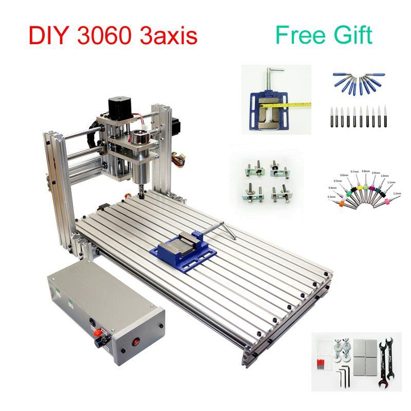 DIY CNC 3060 metall Gravur maschine 3 achsen CNC Router Gravur Bohren Fräsen Maschine 600*300mm arbeits größe