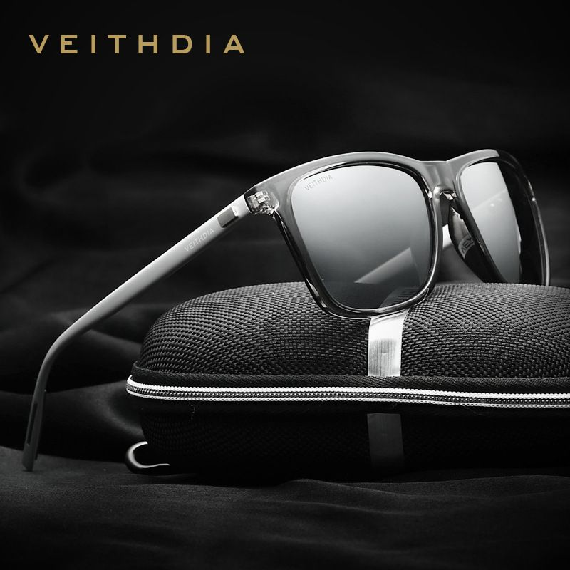VEITHDIA <font><b>Brand</b></font> Unisex Retro Aluminum+TR90 Sunglasses Polarized Lens Vintage Eyewear Accessories Sun Glasses For Men/Women 6108