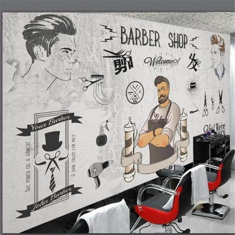 Beibehang Papel Parede пользовательские обои Европейский стиль парикмахер магазин фон мода папье peint фото обои behang