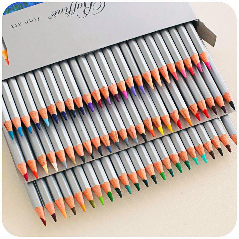 Marco 72 pièces ensemble de peinture au crayon de couleur lapis de cor Non toxique sans plomb crayon de couleur grasse stylo d'écriture fournitures de bureau et scolaires