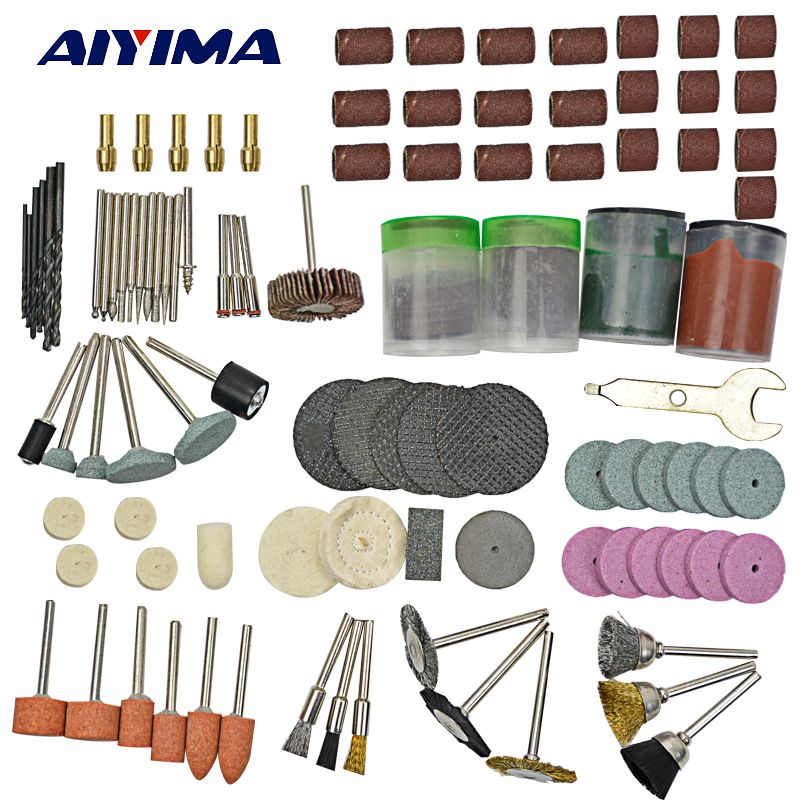AIYIMA 147pcs/set Electric grinding accessories drill bits polishing burnish For Dremel Free shipping
